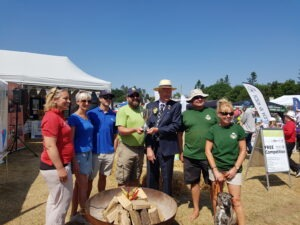 RNAA President visit to the Mini Deepdale stand at the Royal Norfolk Show