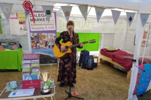 Niamh performing at the Mini Deepdale stand at the Royal Norfolk Show