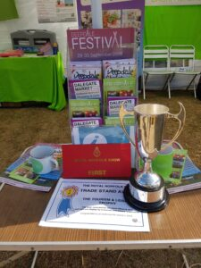 Proper cup and rosette - Best Tourism Stand at the Royal Norfolk Show