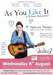 As You Like It - Open Air Theatre - Wednesday 8th August