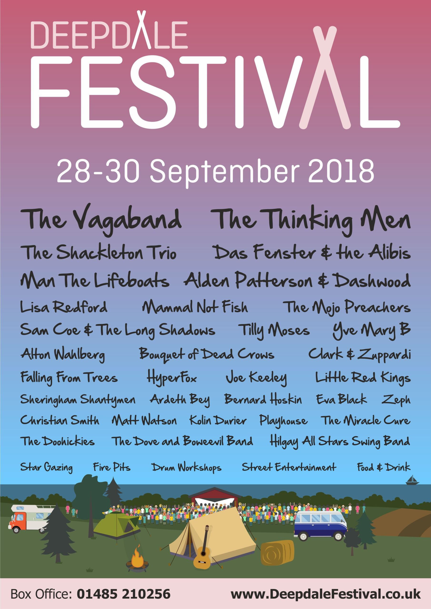 Deepdale Festival - Friday 28th to Sunday 30th September 2018