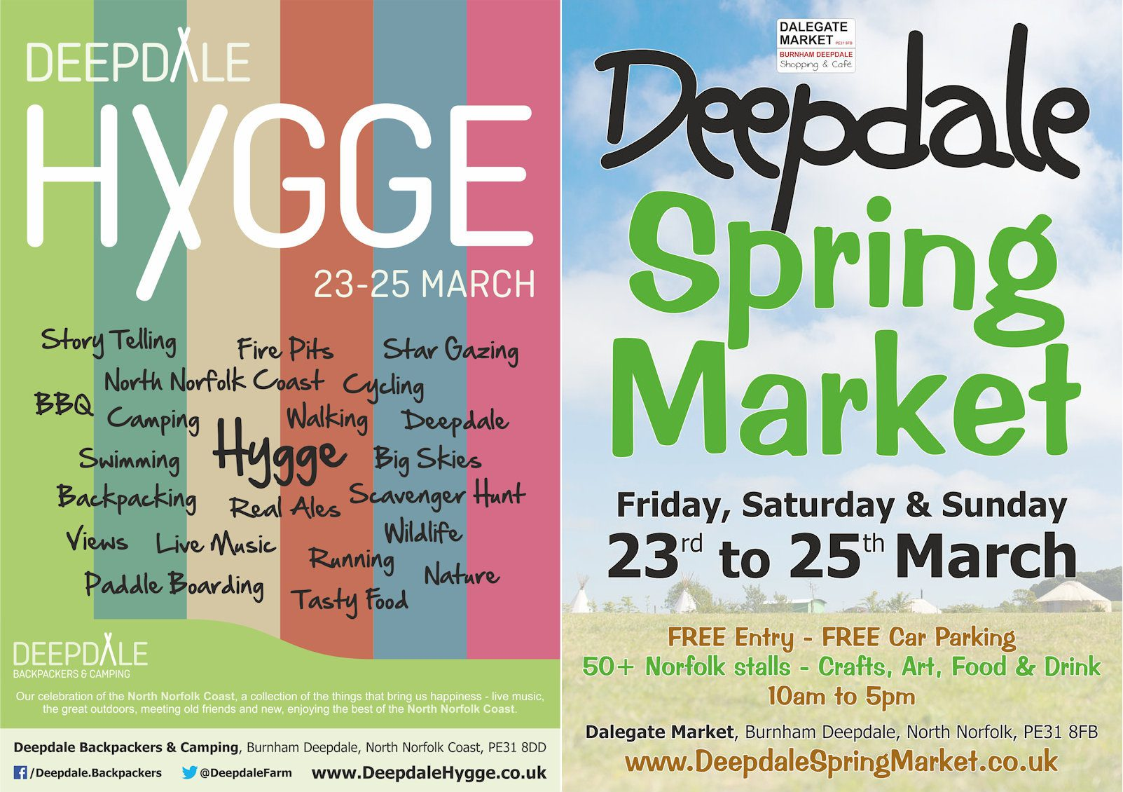 Deepdale Hygge and Deepdale Spring Market | Friday 23rd & Sunday 25th March 2018