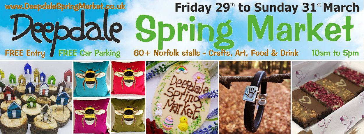 Deepdale Spring Market - Friday 29th to Sunday 31st March 2019
