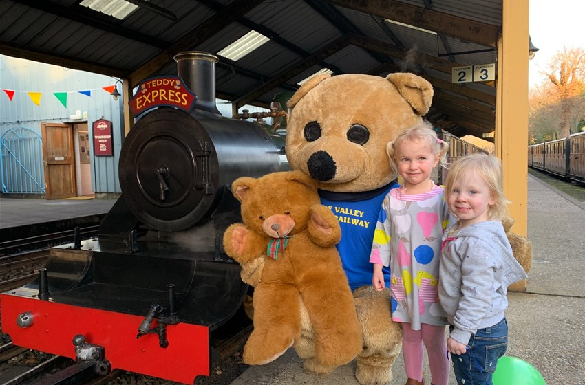Bure Valley Railway Teddy Bear Express, Bure Valley Railway, Norwich Road, Aylsham, Norfolk, NR11 6BW | Our resident mascot bear will be dressed up for the occasion to welcome each train at Aylsham Station. Children can take part in a spot the teddy bears quiz on the train journey, a station trail and colouring activities. | Train, Half Term activities, Children activities, Family activities, Family Day out