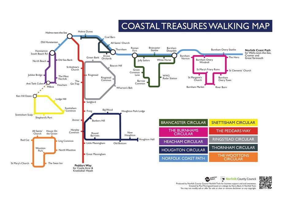 Coastal Treasures Tourism Workshop, Cranmer Conference Centre, Home Farm, Cranmer, , Fakenham , Norfolk , NR21 9HY  | A workshop for tourism businesses in west Norfolk to introduce the Coastal Treasures walking and cycling routes | Tourism, Small business, Workshop