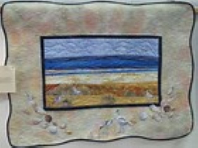 Create a Minature Scene with Sally Holman, Norfolk Wildlife Trust Cley Marshes, Coast Road, Cley, Norfolk, NR25 7SA | This short workshop will give you the opportunity to try your hand at making a small textile picture using Sally's special techniques. | Workshop, birds, art,