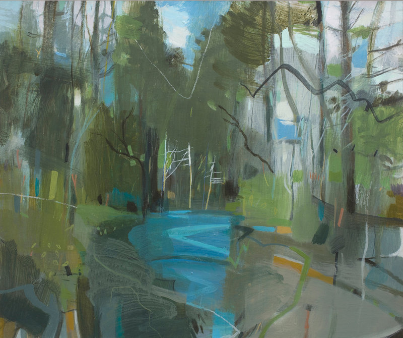 Art Exhibition - Fiona Millais & Clare Conrad, 14 Market Place, Holt, Norfolk, NR25 6BW | Landscape paintings by Fiona Millais together with textural ceramics by Clare Conrad | exhibition, holt, norfolk, art, landscape, contemporary, ceramics