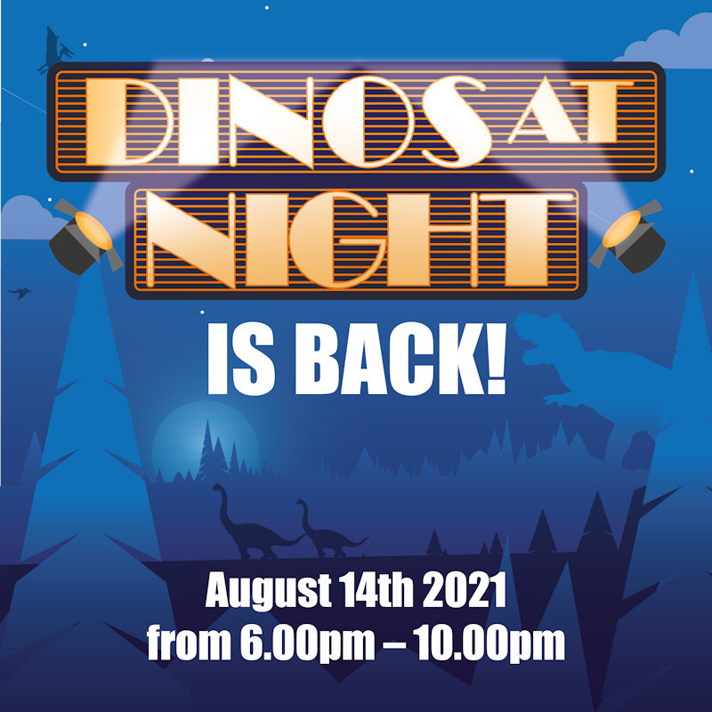 Dino�s At Night | The award winning annual event �Dino�s at Night� returns to Roarr! Dinosaur adventure a little later in the year than normal. | Roarr, Dinosaur Adventure, Lenwade, NORWICH, Norfolk, nr95jw