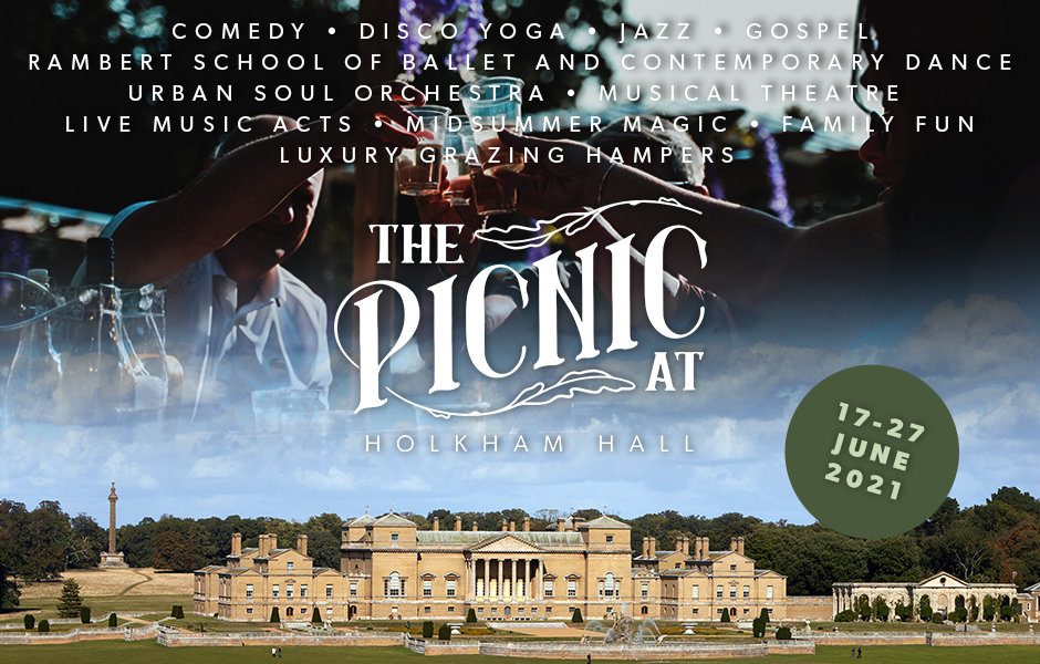 The Picnic at Holkham Hall | Step into the enchanting world of The Picnic, designed to deliver a delicious outdoor dining experience direct to your taste buds, while you sit back and enjoy the welcome return of live music and entertainment. | Holkham Hall, Holkham Rd, Wells-next-the-Sea, Norfolk, NR23 1AB