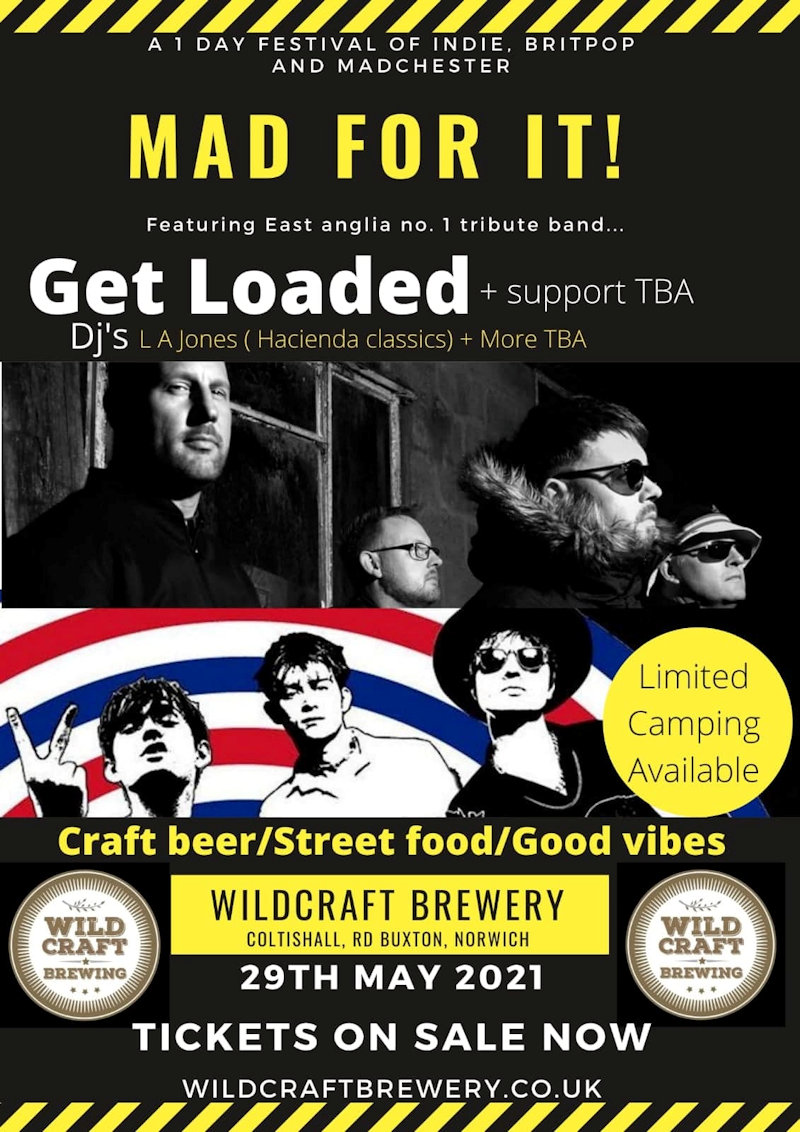 Brewery Sessions at Wildcraft Brewery | The first of our brewery sessions events of 2021. A one day festival of Indie, Britpop and Madchester | Wildcraft Brewery, Foragers Rest, Norwich, Norfolk, NR10 5JD