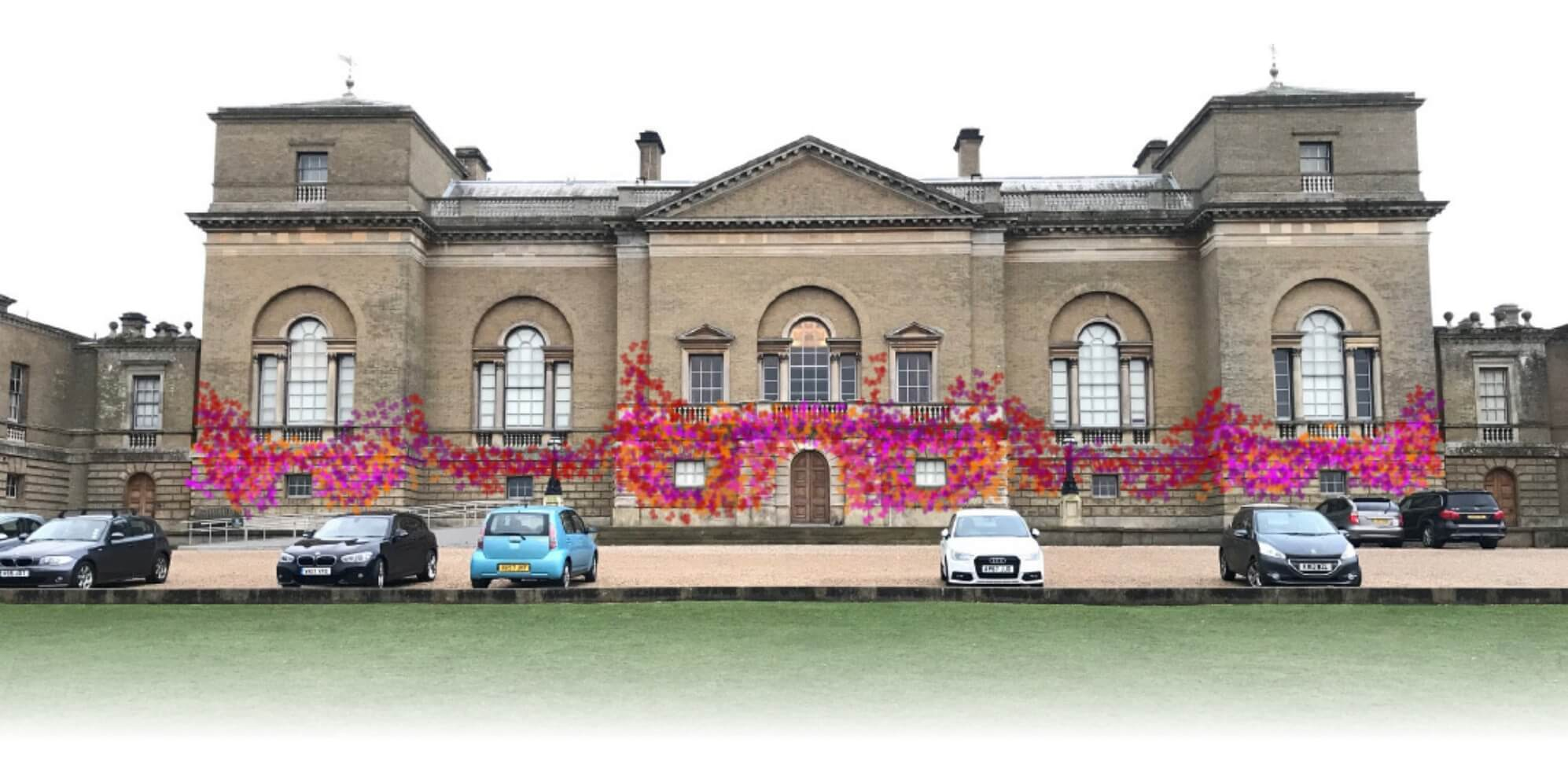 Visualisation of the butterflies fluttering across Holkham Hall