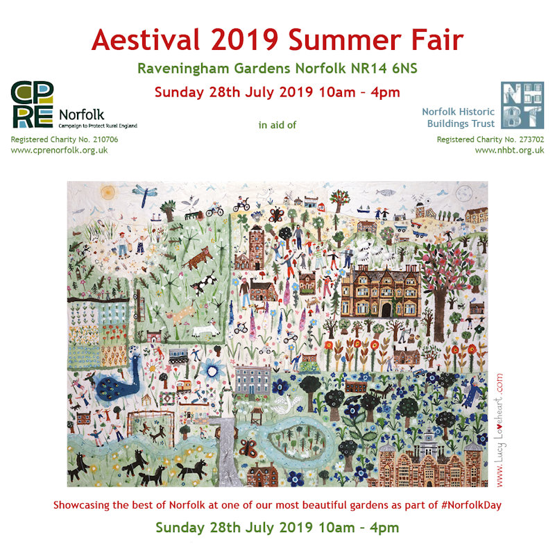 CPRE Aestival Summer Fair 2019, Raveningham Estate & Gardens, Raveningham, Norwich, Norfolk, NR14 6NS | Called 'AESTIVAL' to conjure up the spirit of Summer, this will be a joint fundraising fair with the Campaign to Protect Rural England and Norfolk Historic Buildings Trust. | CPRE, campaign, rural, england, aestival, summer, fair,