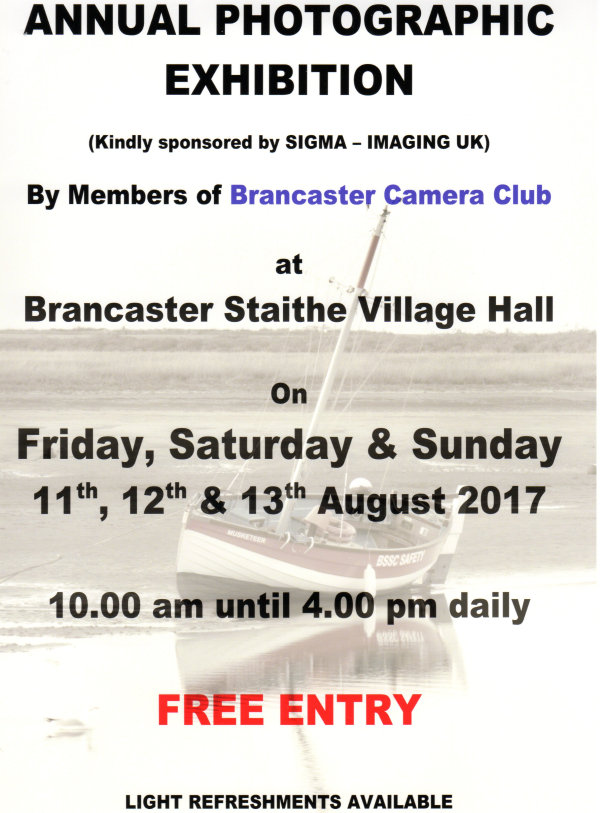 Annual Photographic Exhibition, Brancaster Staithe & Deepdale Village Hall, Brancaster Staithe, North Norfolk Coast | This year the exhibition will be judged by Ann Miles FRPS, a well-known and respected photographer in the East Anglian Region.  Everyone is welcome and we look forward to seeing you there. | annual, photographic, exhibition, brancaster, staithe, deepdale, village, hall, north, norfolk, coast, burnham, east, anglian, region
