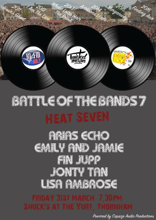 Battle of the Bands | Shuc's are proud to be hosting Heat 7 of Battle of the Bands in conjunction with Twisted Melon Productions KLFM 96.7 and Festival Too. - Dalegate Market | Shopping & Café, Burnham Deepdale, North Norfolk Coast, England, UK