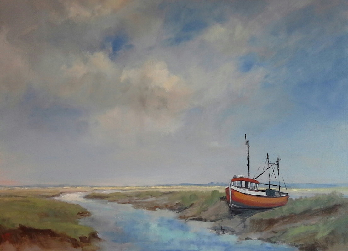 Art Exhibition, Brancaster State Village Hall Main Road Brancaster Staithe Norfolk  PE31 8BV | Exhibition of work by local North Norfolk Coast artists - Colin de Chair, Deanee Clark, Judi Polito, Pat Bustin, Rebecca Lloyd & Vanda Richards | Art,art exhibition,water colours, oils,pastels,acrilics,exhibitions,birds,landscapes,abstract,wildlife,sailing,boats,big skies,botanical,marshes,