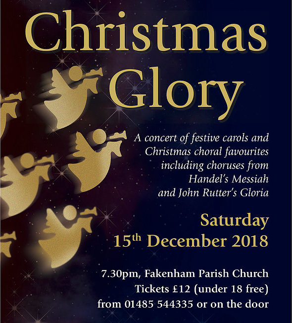 Christmas Glory | Fakenham choral society present a concert of festive carols and Christmas choral favorites including choruses from Handel's Messiah and John Rutter's Gloria. - Dalegate Market | Shopping & Café, Burnham Deepdale, North Norfolk Coast, England, UK