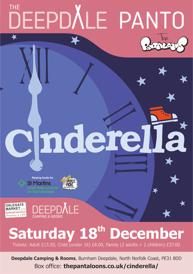 Cinderella - The Deepdale Panto, The Orchard, Dalegate Market, Burnham Deepdale, North Norfolk Coast, PE31 8FB | We are really looking forward to welcoming back The Pantaloons for The Deepdale Panto, with their hilarious version of Cinderella. | indoor, theatre, outdoor, shakespeare, pantaloons, as, you, like, it, play, performance
