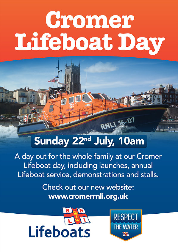Cromer Lifeboat Day, Cromer Pier, The Promenade, Cromer, North Norfolk Coast | Enjoy a full and fun day out for the whole family at the Cromer Lifeboat Day. | cromer, lifeboat, day, launches, service, demonstrations, stalls
