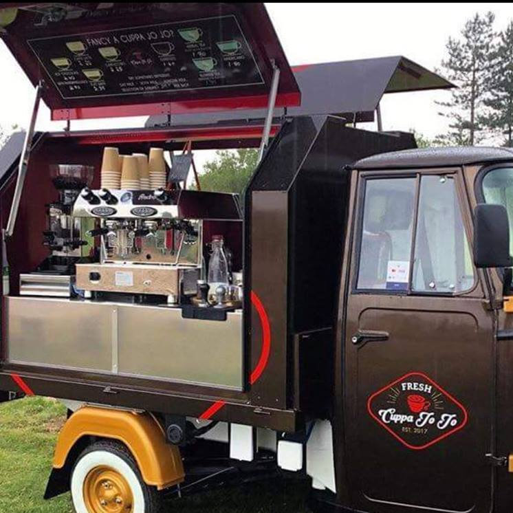 Cuppa Jo Jo - Luxury Barista Bar, serving Rich Italian Coffee, Hand made Hot Chocoalte with exiting toppings, Tea Huggers Herbals, Blended teas,  A range of dairy free milks an gluten free vegan syrups - Deepdale Festival | 26th to 29th September 2019 | Deepdale Backpackers & Camping, Deepdale Farm, Burnham Deepdale, North Norfolk Coast