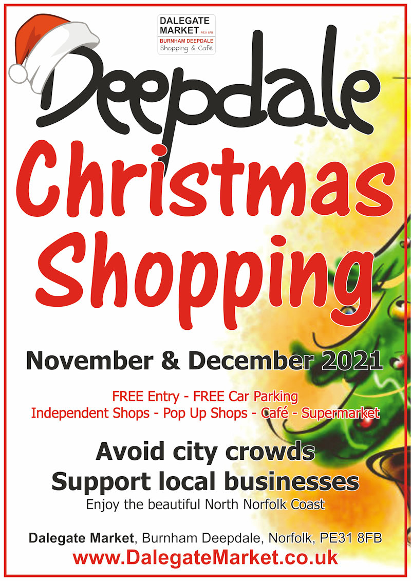 Deepdale Christmas Shopping | Avoid those city crowds, support local businesses, and enjoy the beautiful North Norfolk Coast, by doing your Christmas shopping at Dalegate Market in Burnham Deepdale this festive season. | Dalegate Market, Main Road, Burnham Deepdale, Norfolk, PE31 8FB