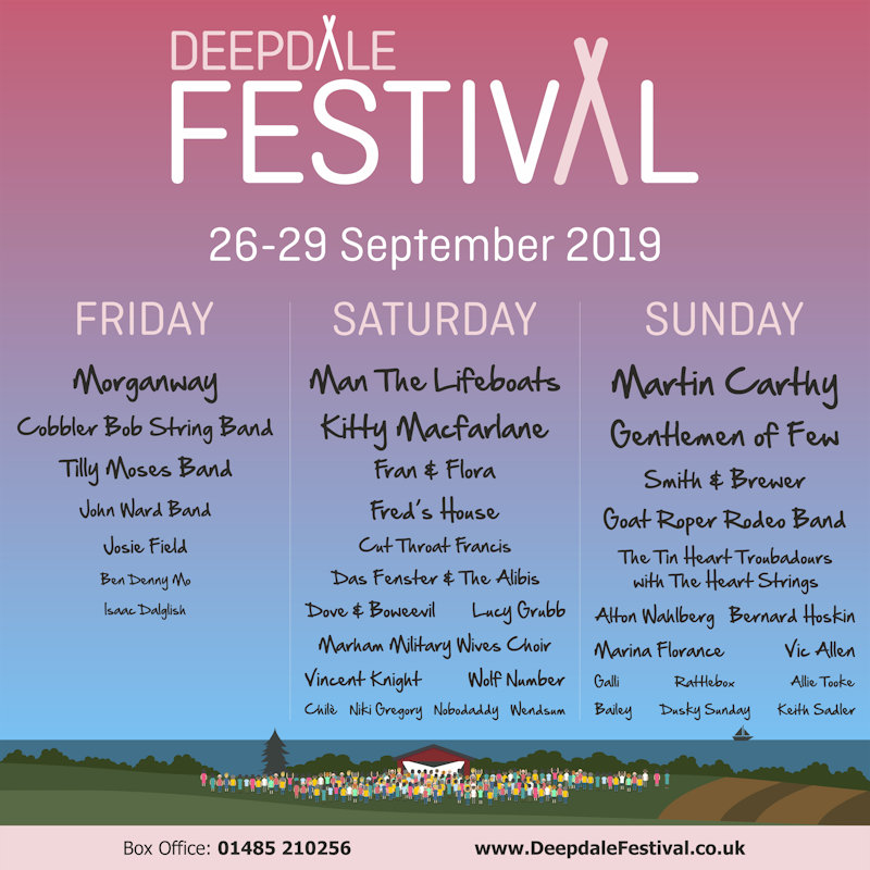 Deepdale Festival 2019 | The Deepdale Festival is a weekend of great live music, with a focus on the best original talent East Anglia and beyond has to offer.  We will host over 35 acts during the 4 days, Thursday, Friday, Saturday and Sunday. - Dalegate Market | Shopping & Café, Burnham Deepdale, North Norfolk Coast, England, UK