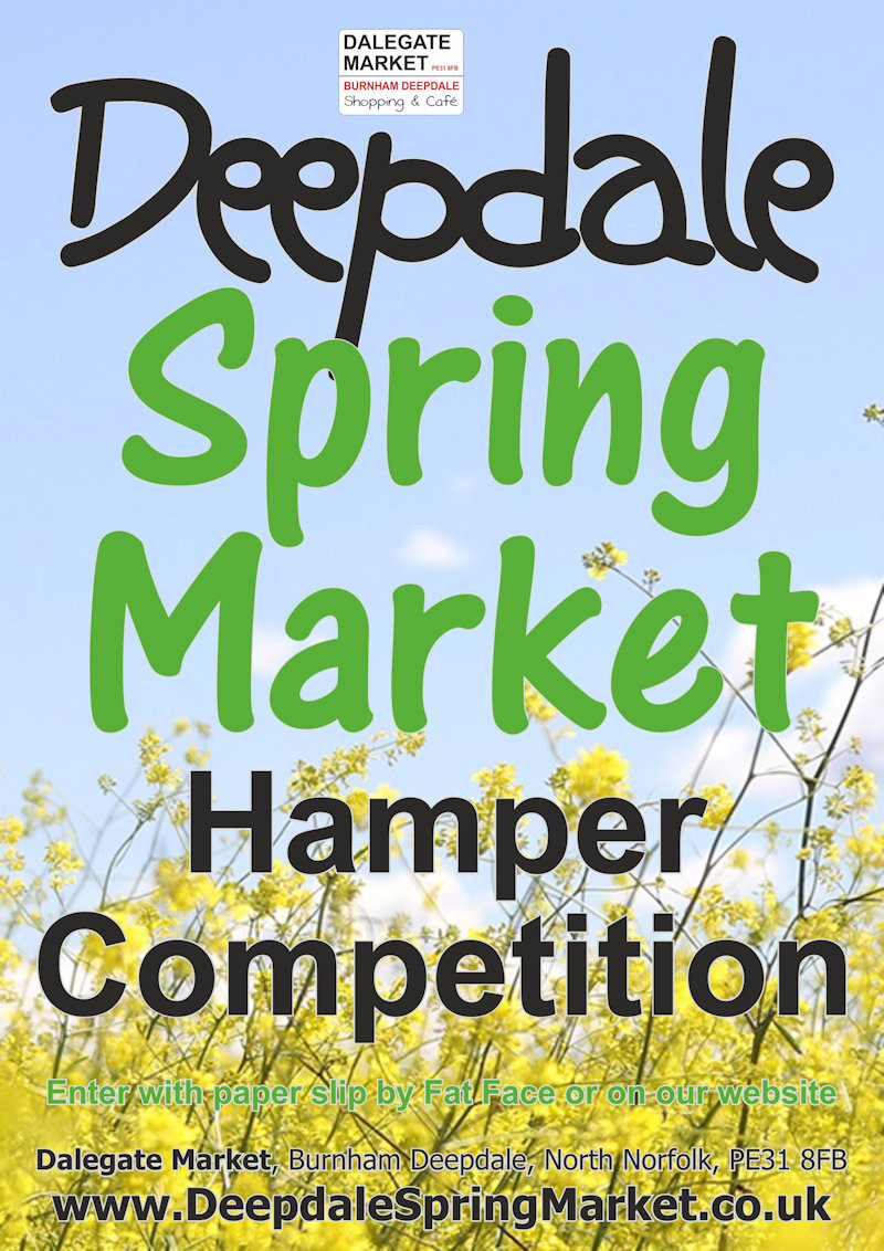 Hamper Competition at Deepdale Spring Market - So you fancy winning one of our fabulous Spring hampers? - It's very simple to enter the Deepdale Spring Market Hamper Competition.  All you need to do is fill out the form below to join our mailing list.  Then we'll select a winners from the list at lunchtime on Saturday 26th and another on Sunday 27th March.