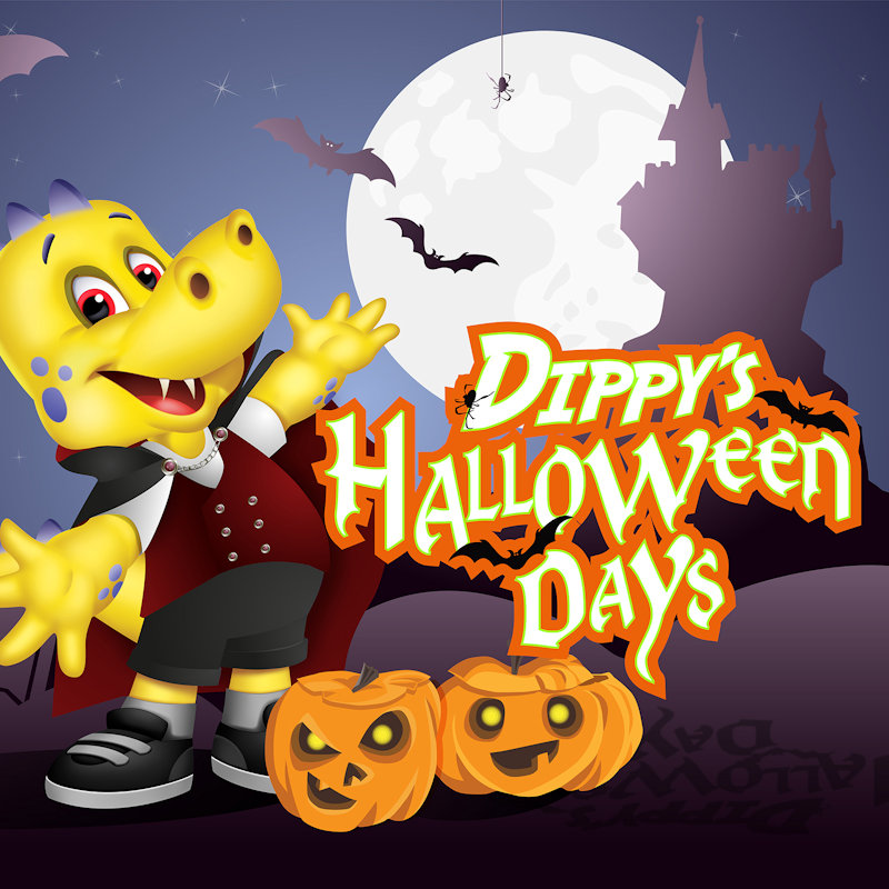 Dippy�s Halloween Days | Popular Halloween events including spooky stories, Dippy shows, disco dancing, snakes, crafts and more. | Roarr! Dinosaur Adventure, Lenwade, Norwich NR9 5JW