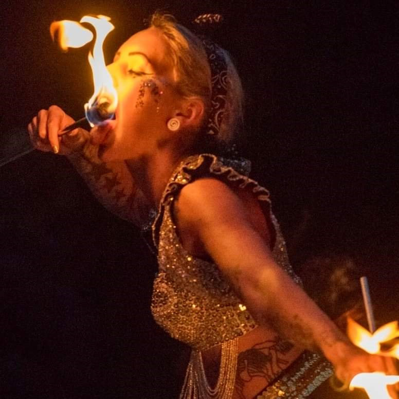 Fire Eating - Saturday - Deepdale Festival | 26th to 29th September 2019 - We are really excited about our first colaboration with the Oak Circus Centre and Lost In Translation Circus from Norwich, who are sending us various acts throughout the weekend.  Enjoy fire eating on Saturday.