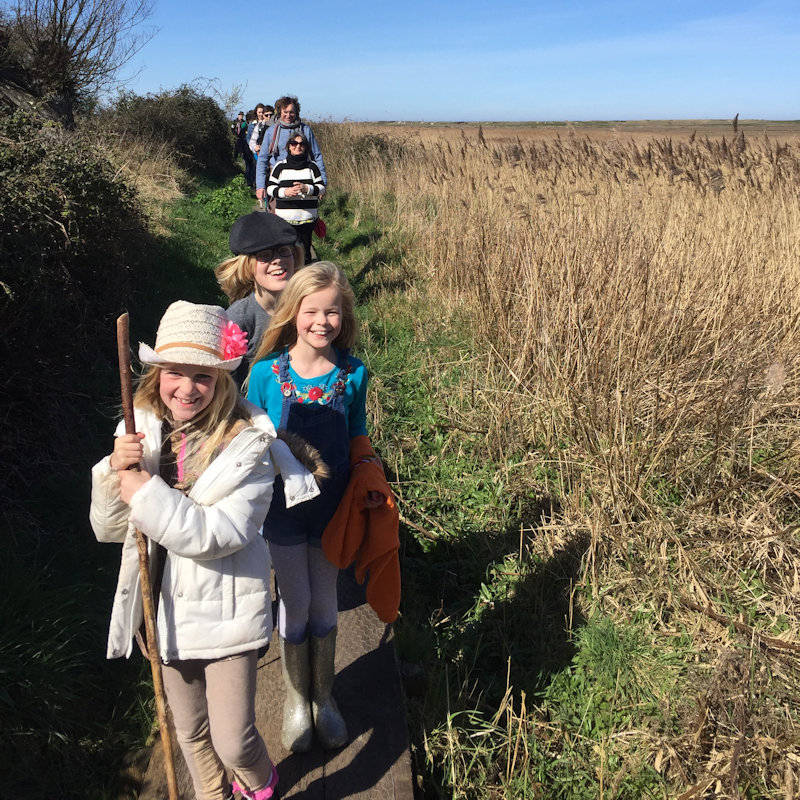 Guided Walk - Deepdale Hygge | 27th to 29th March 2020 | Our celebration of the North Norfolk Coast, a collection of the things that bring us happiness - live music, the great outdoors, meeting old friends and new, enjoying the best of the North Norfolk Coast