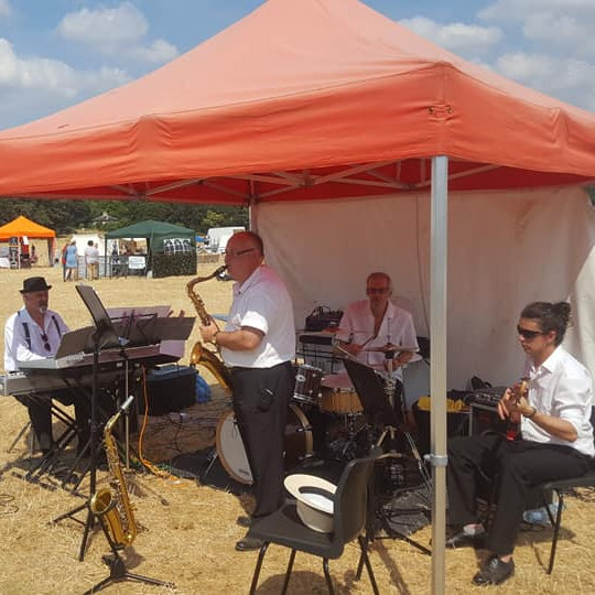 The Hilgay All Stars Swing Band - Sunday - Deepdale Festival | 27th to 29th September 2019 - Enjoy brunch with swing, as the Hilgay All Stars take to the Orchard Stage on Sunday morning with their mix of swing, jazz and dixieland music.  The perfect accompaniment to a late breakfast, early lunch, or our favourite meal ... brunch.