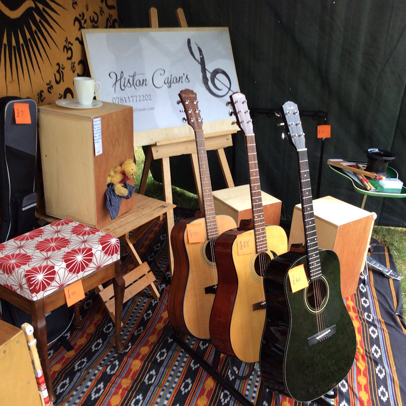 Histon Cajon Drums - Hand made Cajon Drums and quality used acoustic guitars. All my drums are made from recycled woods. A good selection of Freshman electro acoustic guitars plus a few others. - Deepdale Festival | 28th to 30th September 2018 | Deepdale Backpackers & Camping, Deepdale Farm, Burnham Deepdale, North Norfolk Coast