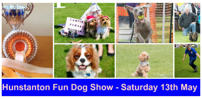 The Hunstanton Fun Dog SHow, Glebe House School, Cromer Road, Hunstanton, PE36 6HW  | Come along and enjoy the best day out for dogs on the Norfolk coast.  There are 12 fun classes to enter with rosettes up to 10th place in each class – With Best in Show and Reserve BIS Trophies. | dog show, outdoors event, children