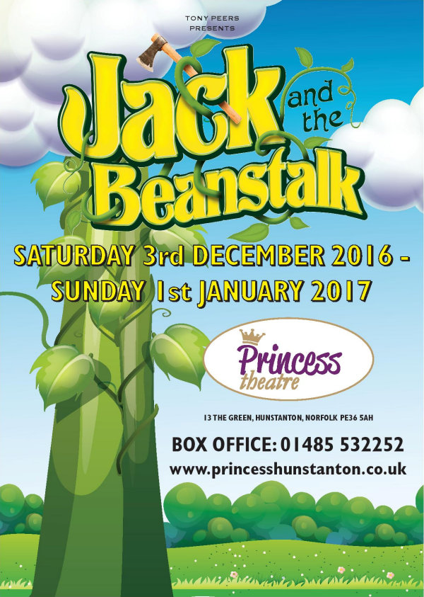 Panto - Jack and the Beanstalk, Princess Theatre, 13 The Green, Hunstanton, Norfolk, PE36 5AH | Hunstanton's fun-packed 2016 pantomime is the tale of Jack and the Beanstalk | hunstanton, pantomime, jack, beanstalk, north norfolk, coast, princess, theatre