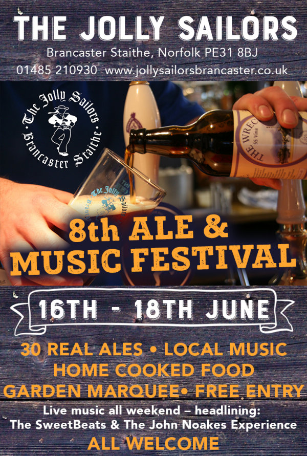 Jolly Sailors 8th Ale Festival, The Jolly Sailors, Brancaster Staithe, North Norfolk Coast | Local real ales, ciders & local musical talent | beer, ale, festival, drink, music, local, pub, brancaster