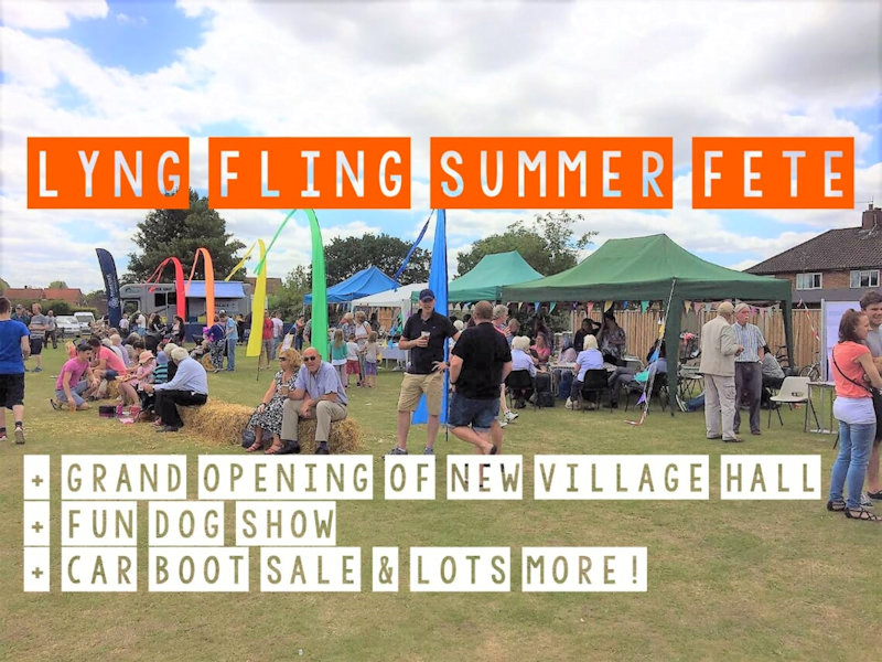LYNG FLING Summer Fete, Lyng Sports Field, off Richmond Place, Lyng, Norwich, Norfolk NR9 5RF | Family fun community fundraising event with lots of stalls and activities | Fete, summer, fundraising, childrens, outdoor, event, family fun, police, fire truck, car boot, dog show