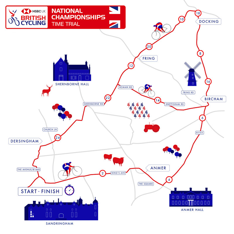 British Cycling Festival - Road Time Trials | The Great British Cycling Festival is coming to Norfolk this summer! 1st national champions' jerseys of the festival will be given out on June 27, fittingly on the Royal Sandringham Estate, as the king & queen of British time trialling are crowned. - Dalegate Market | Shopping & Café, Burnham Deepdale, North Norfolk Coast, England, UK