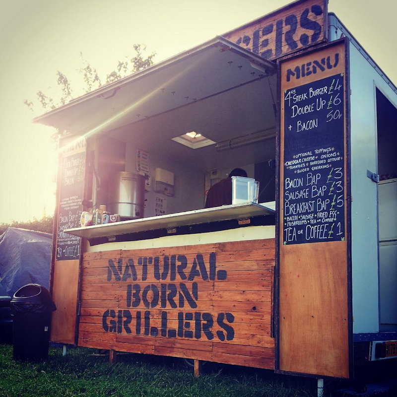 Natural Born Grillers  - Natural Born Grillers source local produce and turn them into lip-smacking burgers with a twist. With their now famous, musically inspired burger names NBG make you smile inside and out. - Deepdale Festival | 28th to 30th September 2018 | Deepdale Backpackers & Camping, Deepdale Farm, Burnham Deepdale, North Norfolk Coast