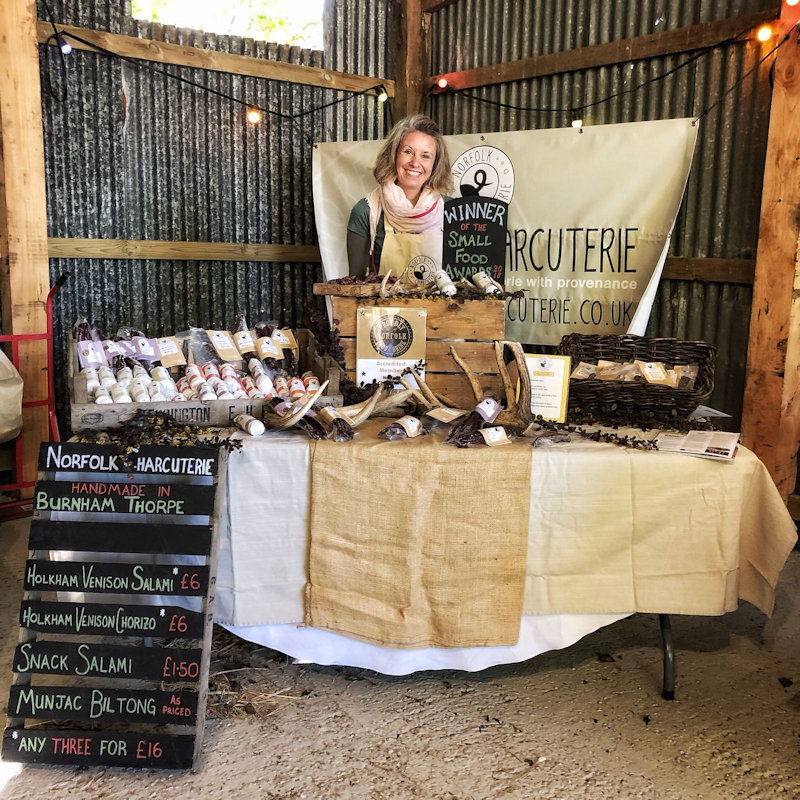Norfolk Charcuterie - Award winning charcuterie, handmade in Burnham Thorpe. Our range includes venison salami & Biltong, using Sandringham and Holkham estate venison. Local pork salami and chorizo and Red Poll Biltong. - Deepdale Festival | 26th to 29th September 2019 | Deepdale Backpackers & Camping, Deepdale Farm, Burnham Deepdale, North Norfolk Coast