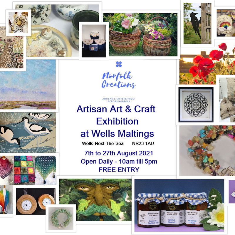 Norfolk Creations Arts and Craft Exhibition | Our new venue for our Summer Exhibition - the beautiful Handa Gallery at Wells Maltings, Wells Next The Sea (NR23 1 AU). - Dalegate Market | Shopping & Café, Burnham Deepdale, North Norfolk Coast, England, UK