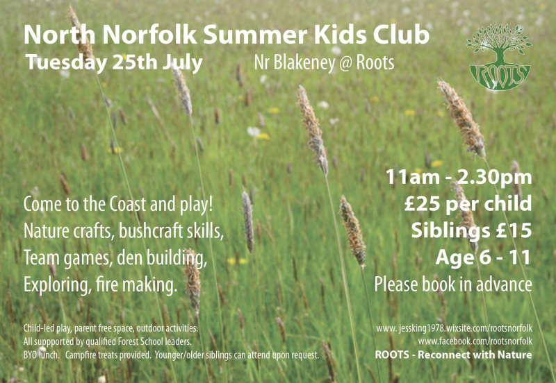 North Norfolk Summer Kids Club, Blakeney, North Norfolk Coast | Come to the Coast and play! ROOTS will be hosting this unique and fun outdoor experience on the beautiful North Norfok coast ... | north, norfolk, coast, summer, kids, club, blakeney
