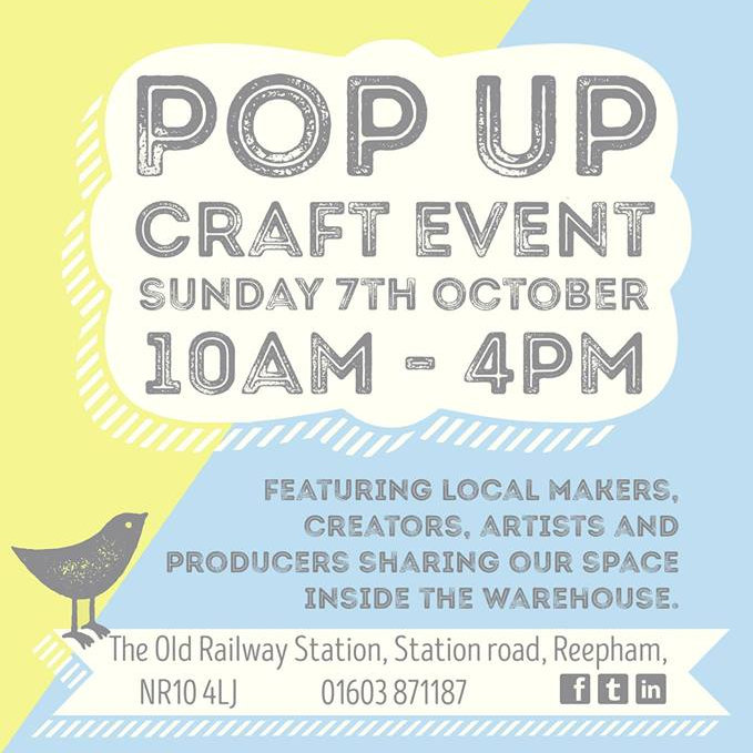 October Pop Up Craft Event, Kerri's farmhouse pine, The old railway station, Station road, Reepham, NR10 4Lj | We love everything Norfolk has to offer, one of those things is the fantastic array of talented makers, producers, artists and unique creators.  | Craft fair, Local makers event, Pop up craft fair