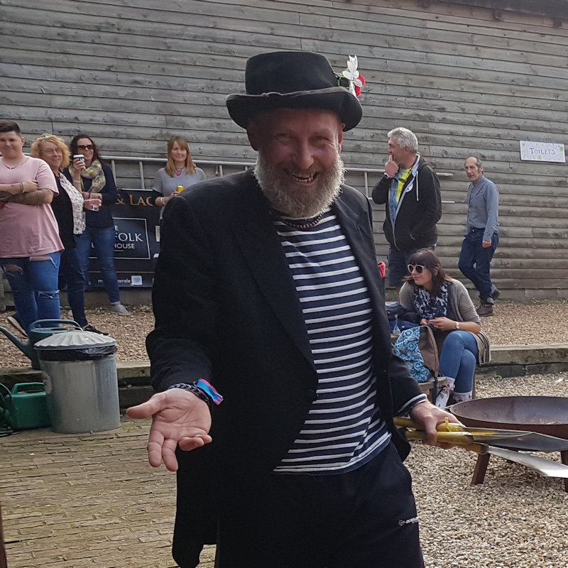 Shooffi  - Friday & Sunday - Deepdale Festival | 27th to 29th September 2019 - This strange French man will be wandering the festival site with his suitcase of interesting items.  Will you be the one he asks to help with his tricks, maybe you'll be handed a balloon model.