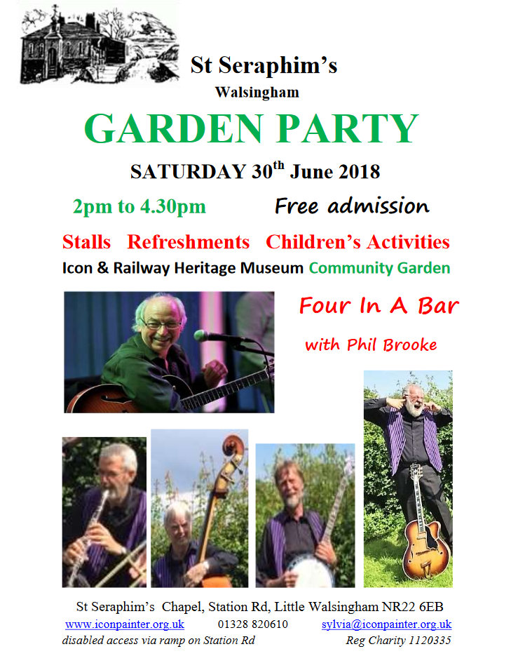 St. Seraphim's Garden Party, North Norfolk Coast, Walsingham  | A family event including music, stalls, food, children's activities and more | family event