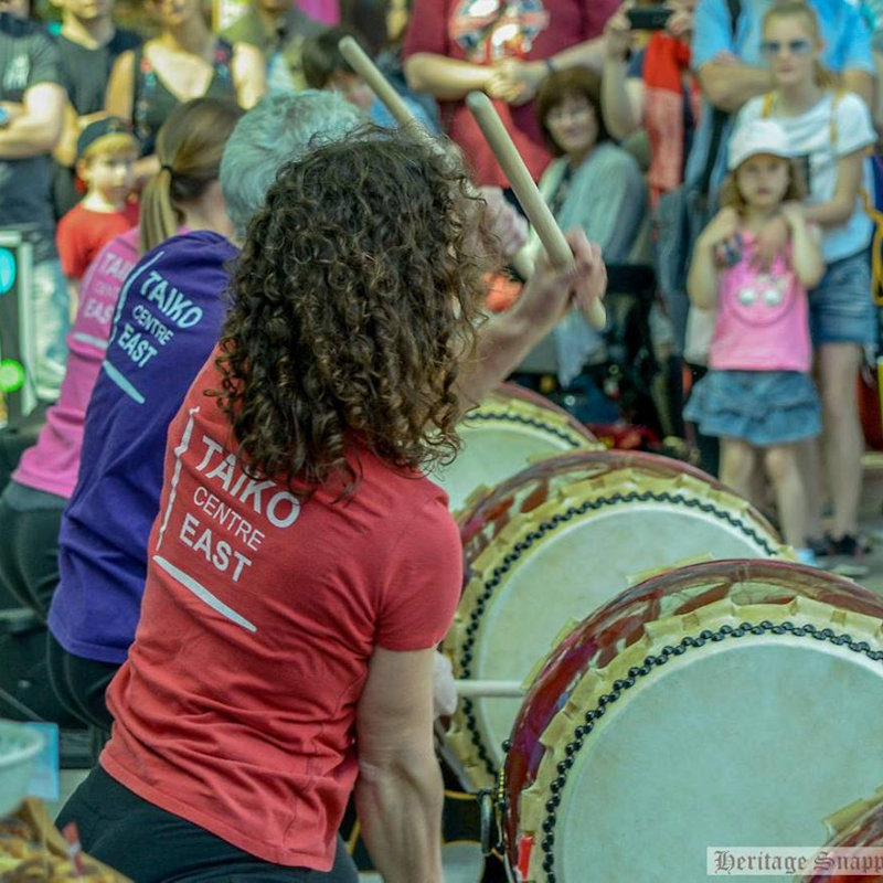 Taiko Drum Workshop - Sunday - Deepdale Festival | 27th to 29th September 2019 - Taiko is a style of drumming from Japan. You hit large drums with big sticks. It's fun, energetic, and makes a great sound in a big group. The team from Taiko Centre East will be performing a display of Taiko Drumming, followed by a workshop which anyone is welcome to take part in.<br />The Taiko Centre East is based in Norwich, and they run monthly workshops and weekly classes.