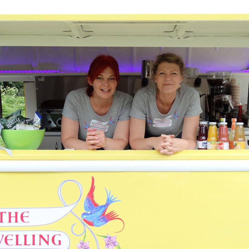 The Travelling Bluebird - The Travelling Bluebird is a beautiful vintage van selling made to order 'posh' toasties,teas, Italian hot chocolate, freshly ground coffees, fruit juices, smoothies and organic soft drinks. - Deepdale Festival | 28th to 30th September 2018 | Deepdale Backpackers & Camping, Deepdale Farm, Burnham Deepdale, North Norfolk Coast