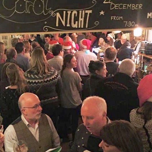 Carol singing, The White Horse Brancaster Staithe | Our Annual Carol service in aid of Macmillan cancer support, including charity raffle with over 30 prizes up for grabs! | Carol event