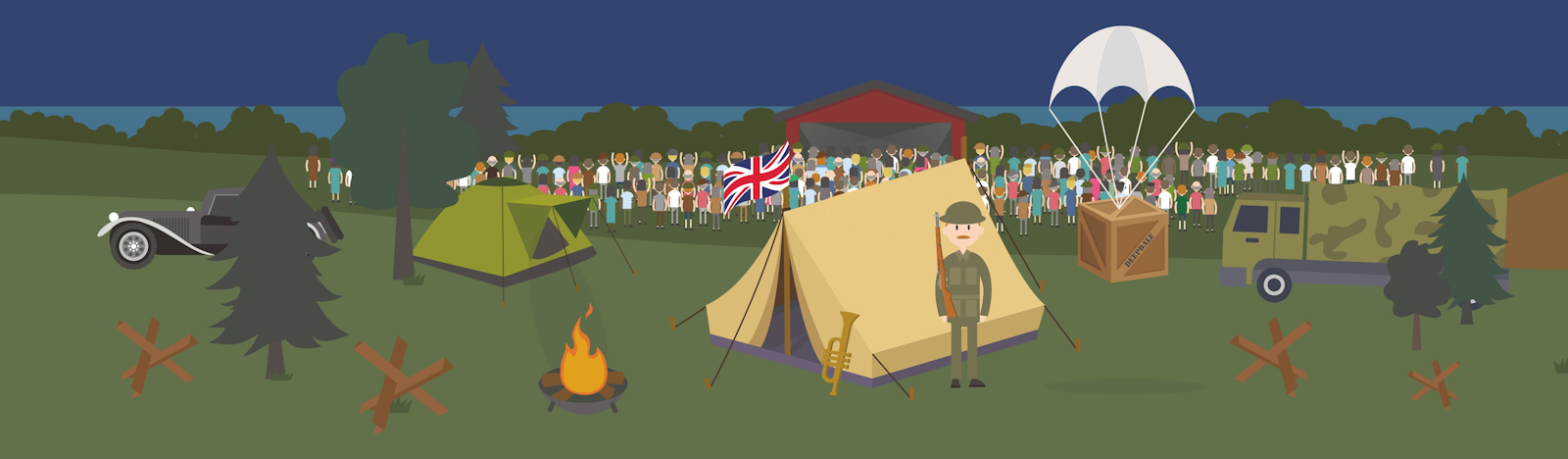 Deepdale 1940s Weekend | 11th to 13th May 2018 | Deepdale's celebration of VE Day with a step back in time to the stylish 1940s