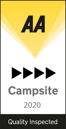 Deepdale Camping has been awarded 4 Black Pennants by the AA