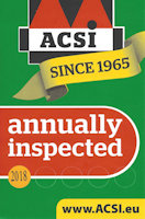 We have recently been inspected by ACSI and accepted into their guide