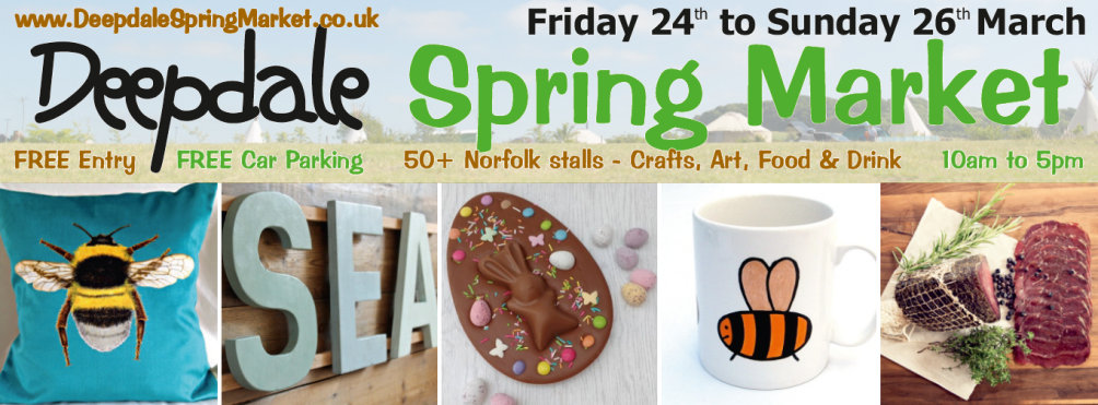 Deepdale Spring Market -  Friday 24th to Sunday 26th March 2017